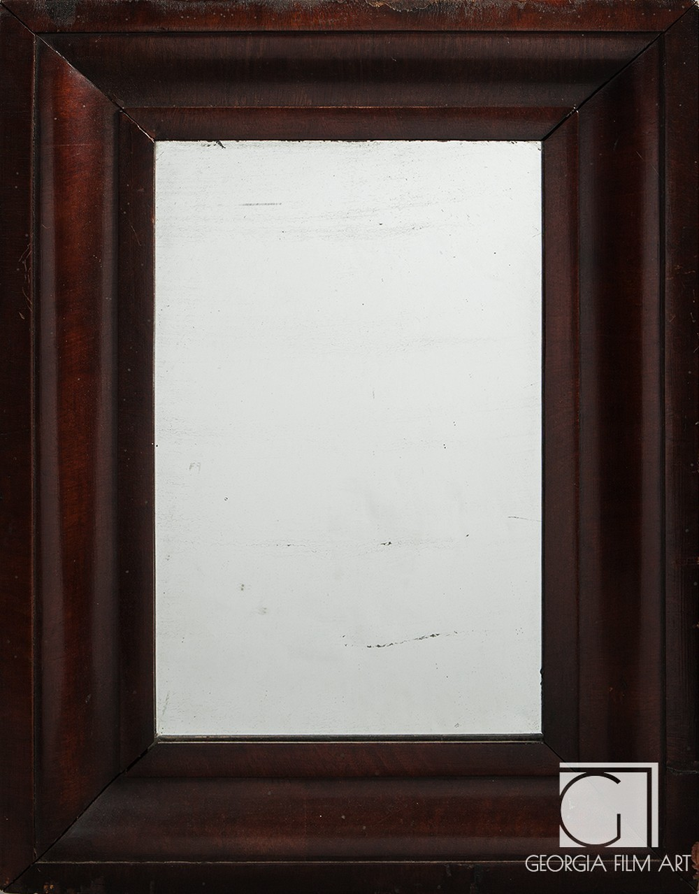 Antique Mirror With Wood Frame